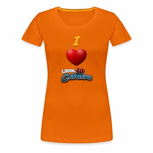 I love Level10Gamers - Premium T-skjorte for kvinner
