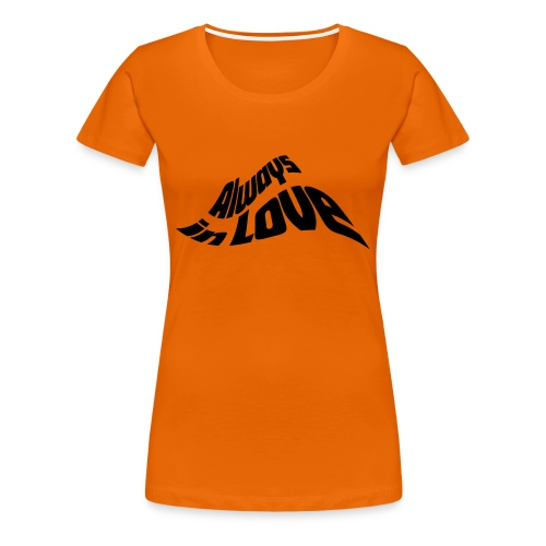in Love Liebe Herz Heart JGA Valentinstag - Women's Premium T-Shirt