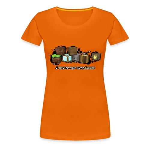 I love to play with Blocks - Women's Premium T-Shirt