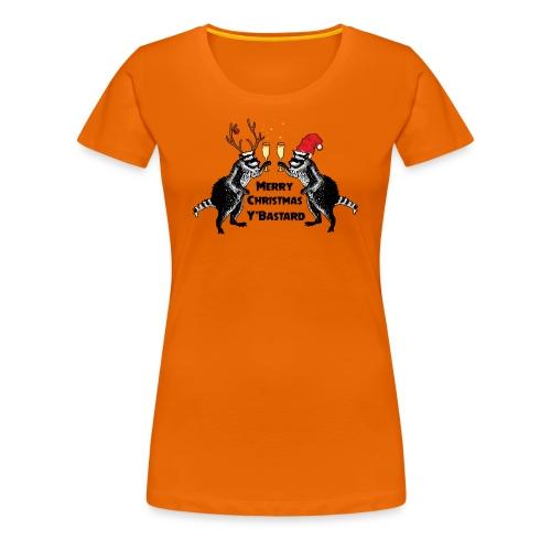 Xmas Raccoons - Women's Premium T-Shirt