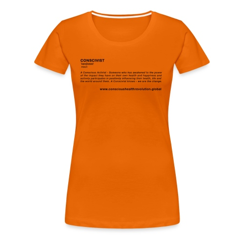 Conscivist Definition - Women's Premium T-Shirt