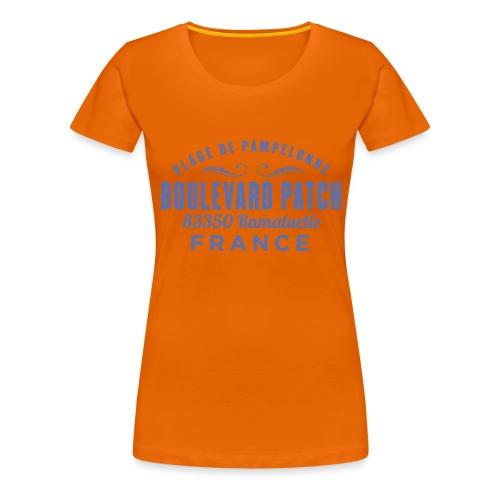 Plage De Pampelonne - Boulevard Patch - Ramatuelle - Vrouwen Premium T-shirt