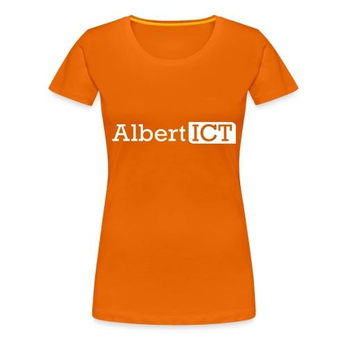 AlbertICT wit logo - Vrouwen Premium T-shirt