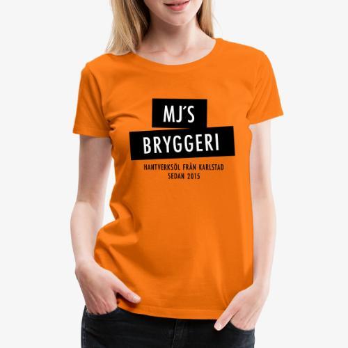 MJs logga - Premium-T-shirt dam