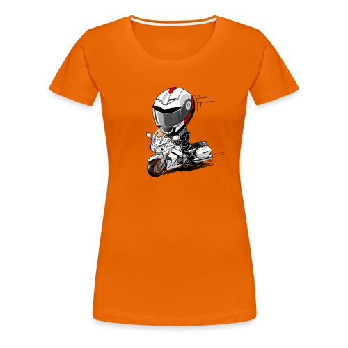 FJR wit - Vrouwen Premium T-shirt