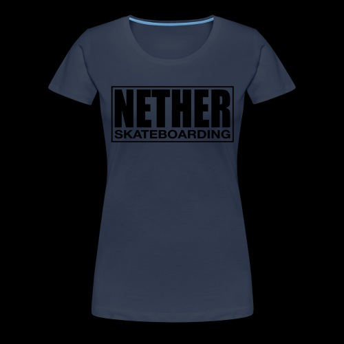Nether Skateboarding T-shirt White - Maglietta Premium da donna