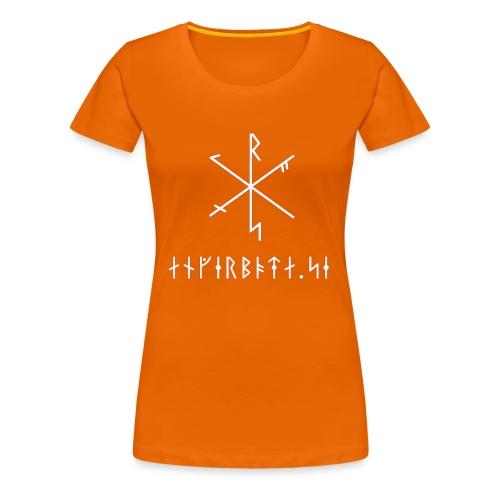 Angerboda logo med bindruna - Premium-T-shirt dam