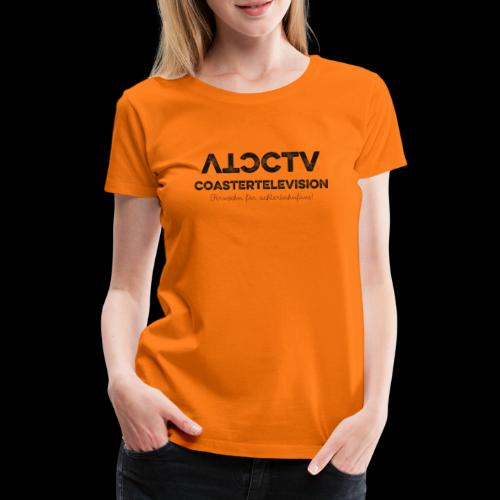 CTV Logo Black - Frauen Premium T-Shirt