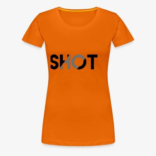 Shot contrast text - Women's Premium T-Shirt