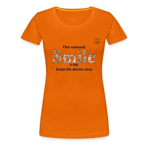 samoyedsmile - Vrouwen Premium T-shirt