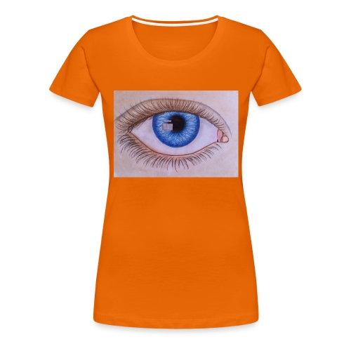 Blue eye - Frauen Premium T-Shirt