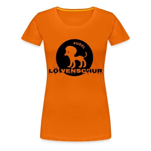 Pudel Löwenschur Cap - Frauen Premium T-Shirt