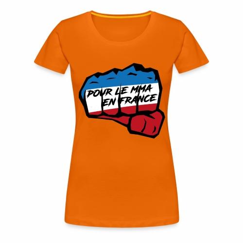 Fightness fist mma - T-shirt Premium Femme