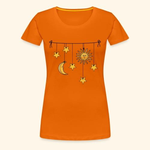 Sonne Mond und Sterne - Frauen Premium T-Shirt