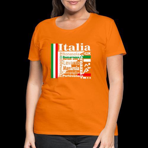 Italia 42K Cinque Terre Marathon Sport - Frauen Premium T-Shirt
