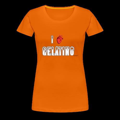 PuntoACapo - I ♥ Gelatino- - Maglietta Premium da donna