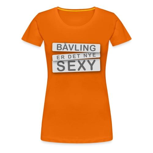 Bowling er det nye Sexy - Premium T-skjorte for kvinner