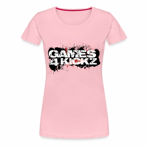 Games4Kickz Logo Splattered Background - Women's Premium T-Shirt