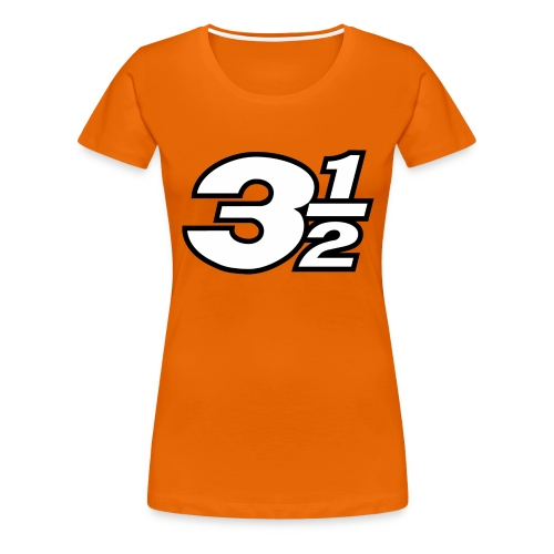 Three and a Half Logo - Women's Premium T-Shirt