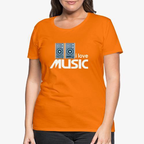 Amo la música 02 - Camiseta premium mujer