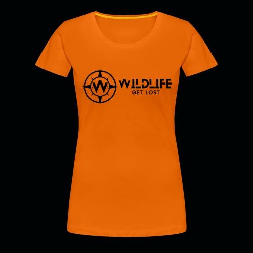 LOGO E SCRITTA WILDLIFE - Maglietta Premium da donna