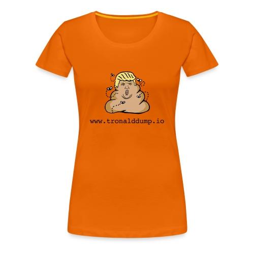 Tronald Dump - Women's Premium T-Shirt