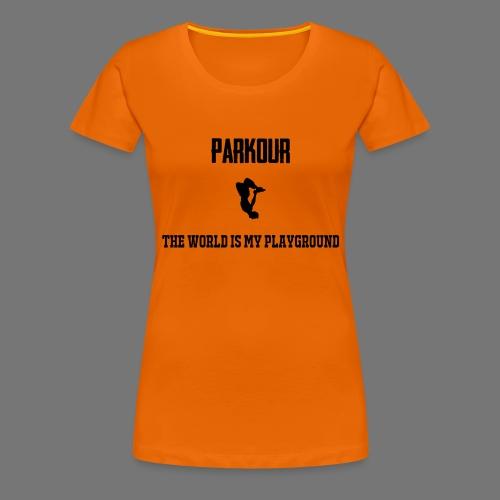 World is my playground - Vrouwen Premium T-shirt