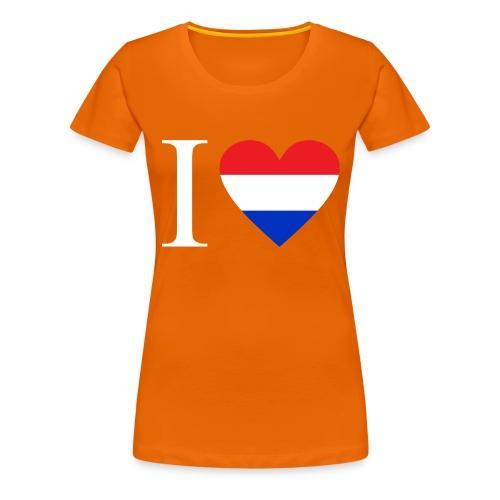 Ik hou van Nederland | Hart met rood wit blauw - Vrouwen Premium T-shirt