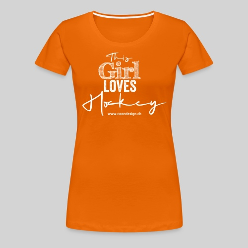 This Girl loves Hockey (white) - Frauen Premium T-Shirt