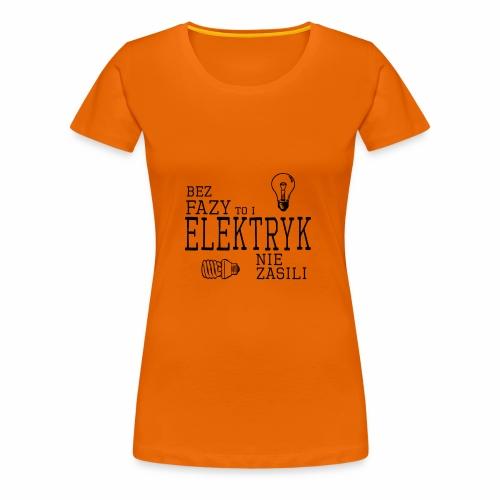 elektryk png - Koszulka damska Premium