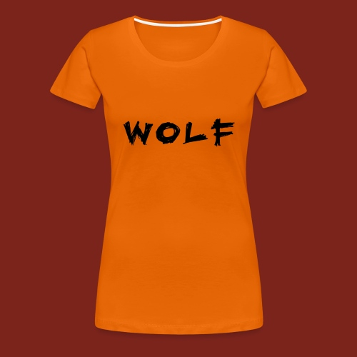 Wolf Font png - Vrouwen Premium T-shirt