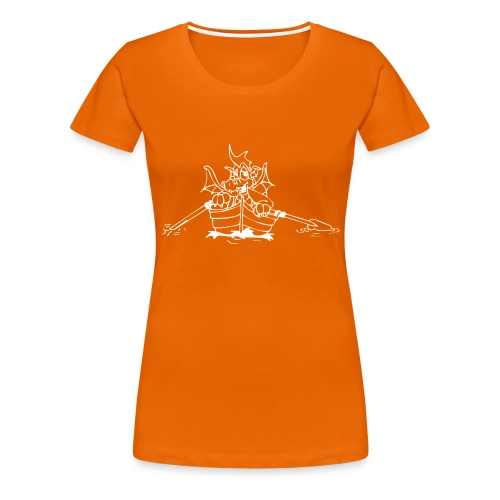 rudernder drache - Frauen Premium T-Shirt