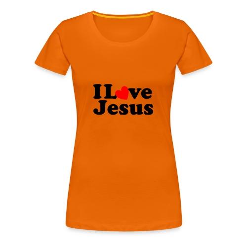 I Love Jesus - Maglietta Premium da donna