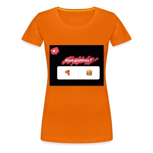 la pizza ou le hamburger choisissez votre camps PB - T-shirt Premium Femme