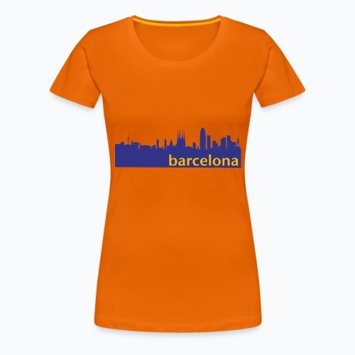 camisa con perfil de Barcelona - Camiseta premium mujer