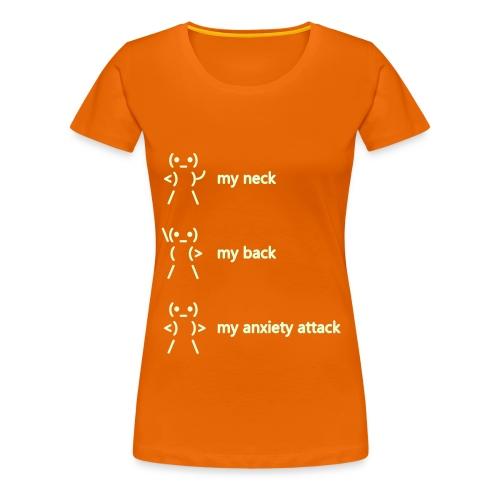 neck back anxiety attack - Women's Premium T-Shirt