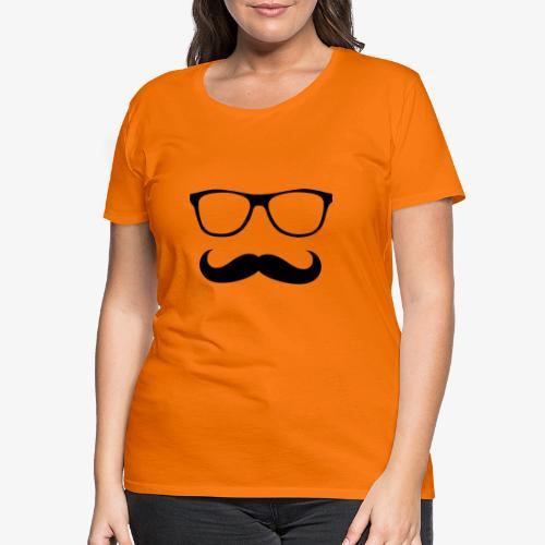gafas y bigote - Camiseta premium mujer