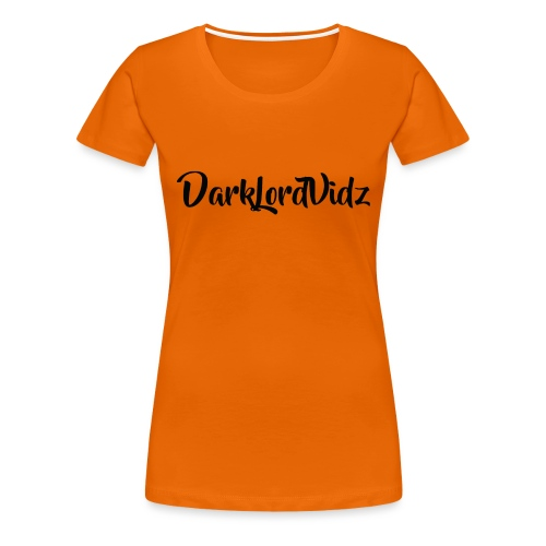DarklordVidz Black Logo - Women's Premium T-Shirt