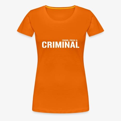 Y F CRIMINAL Logo White - Frauen Premium T-Shirt