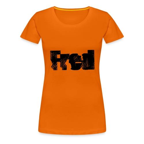 Fred logo - Dame premium T-shirt