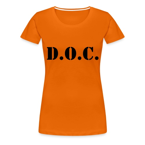 Department of Corrections (D.O.C.) 2 back - Frauen Premium T-Shirt