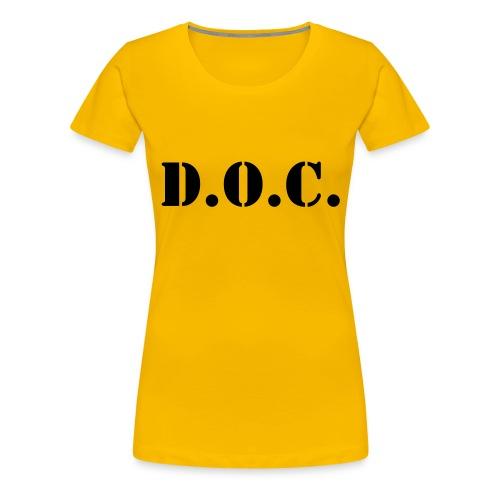 Department of Corrections (D.O.C.) 2 back - Frauen Premium T-Shirt