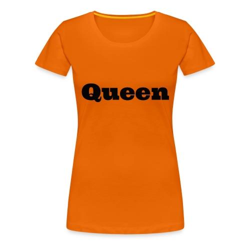 Snapback queen rood/zwart - Vrouwen Premium T-shirt