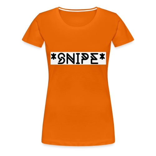 *SNIPE* Box Logo white - Frauen Premium T-Shirt