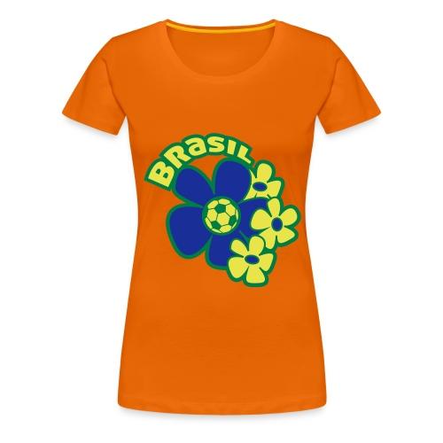 Voetbal Bloem Brazilie - Vrouwen Premium T-shirt