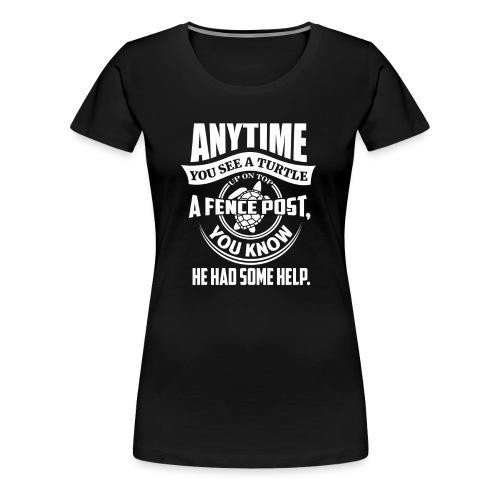 Turtle - Premium T-skjorte for kvinner