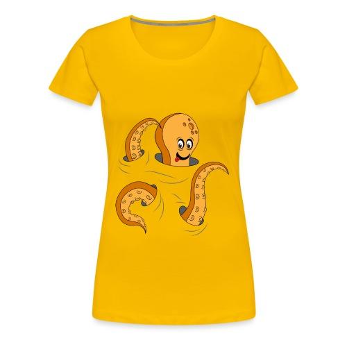 Simpatico polpo curioso - Maglietta Premium da donna