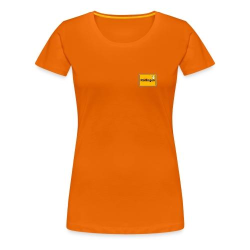 Reilinger Ortsschild - Frauen Premium T-Shirt