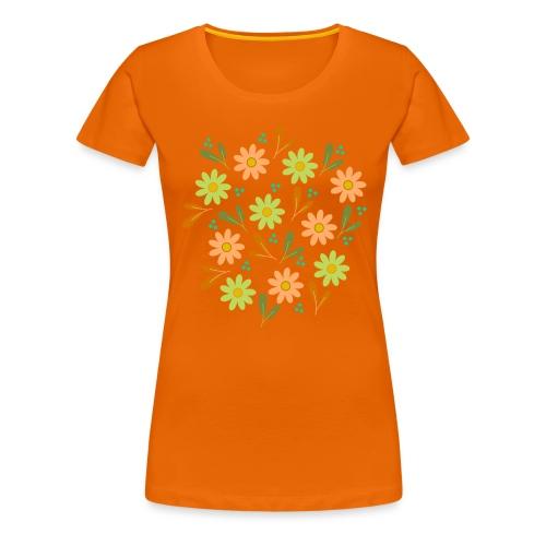 Blumen Muster - Frauen Premium T-Shirt