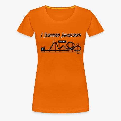 surviving javascript gif - Women's Premium T-Shirt